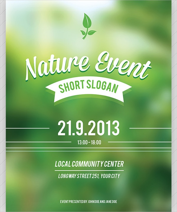 nature event flyer template