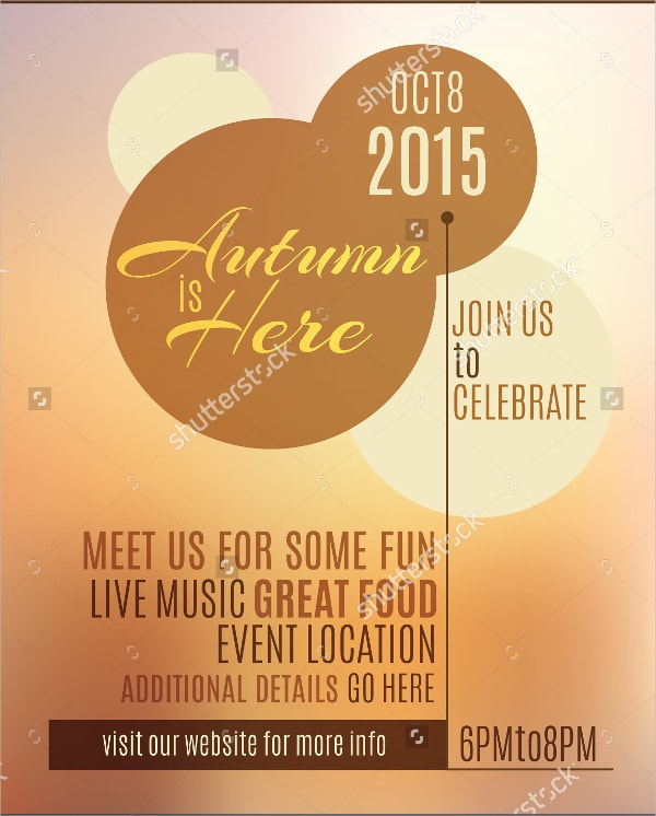 Autumn is Here Event Flyer