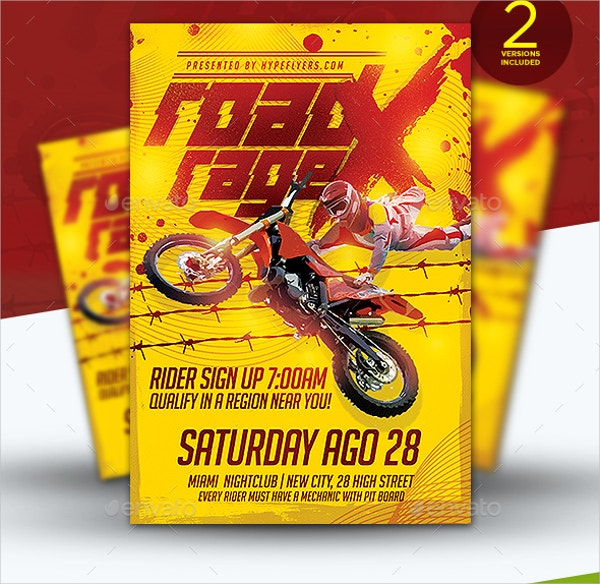 dirt bike event flyer template
