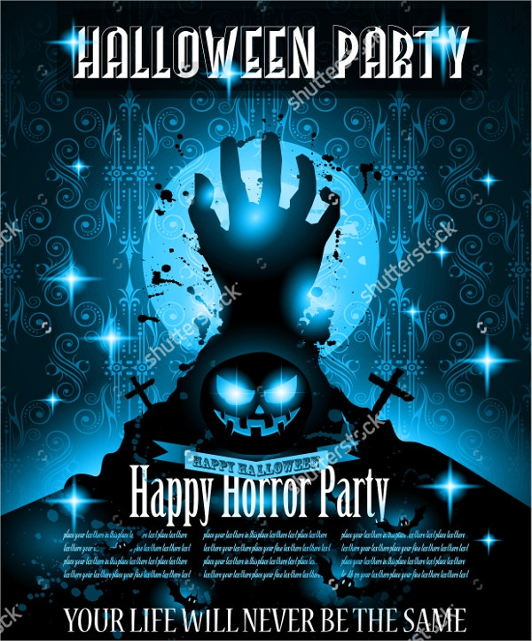 halloween night event flyer