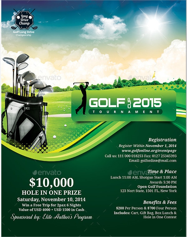 classic golf event flyer template