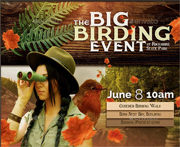 birding event flyer template