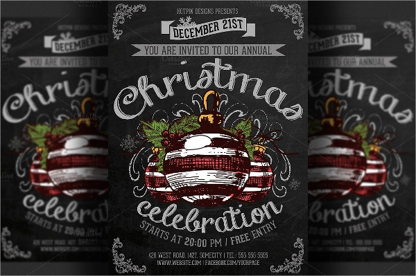 christmas celebration event flyer