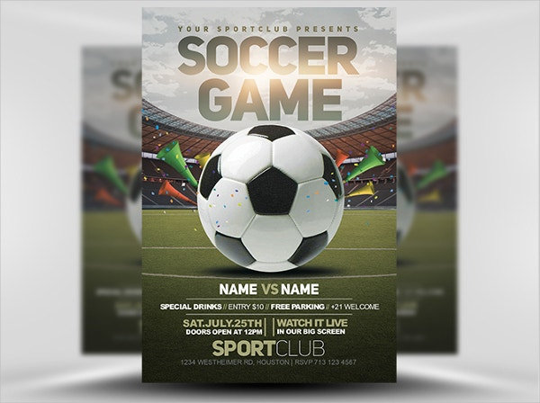 Soccer Game Event Flyer Template