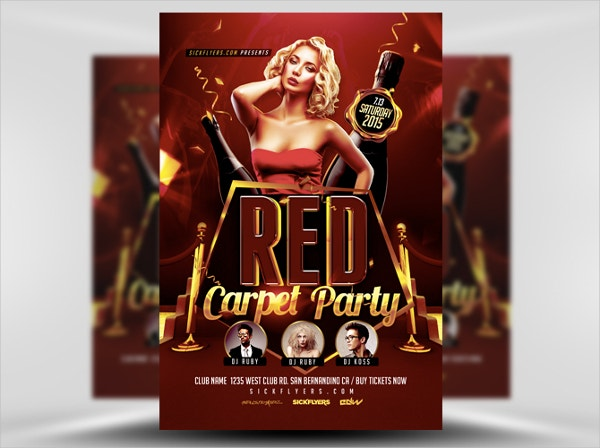 red carpet event flyer template