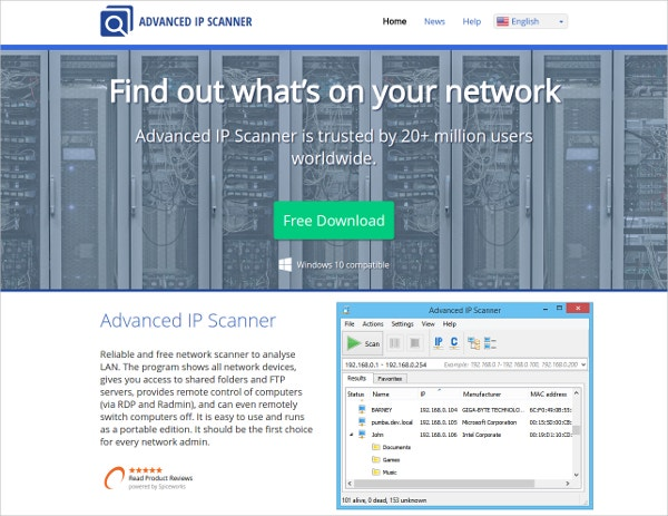 Advanced IP Scanner Network Analysis Tool