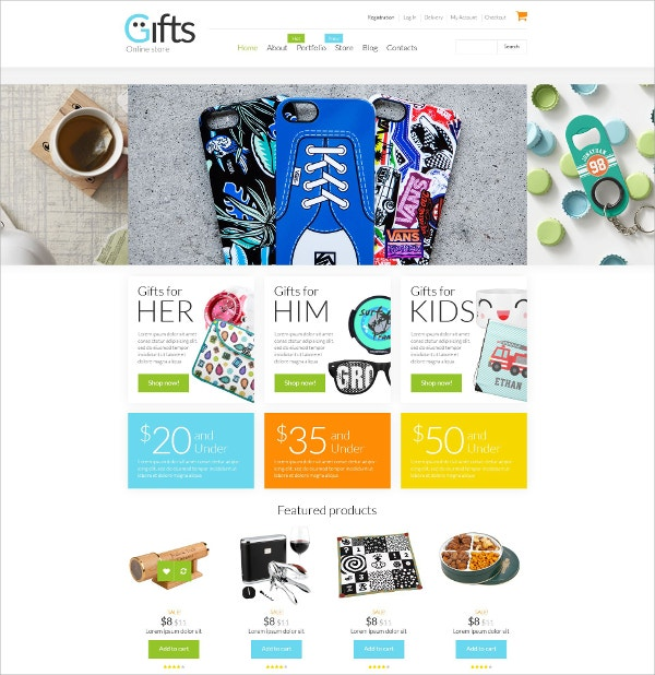 Gifts Shop WooCommerce eCommerce Theme $114