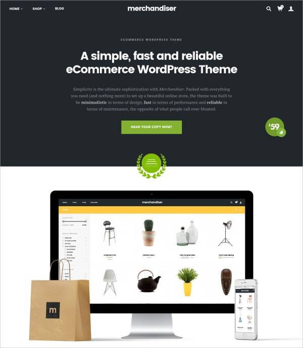 eCommerce WordPress Theme For WooCommerce $59