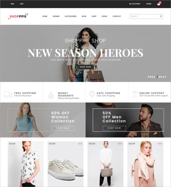 eCommerce Fashion Template $17