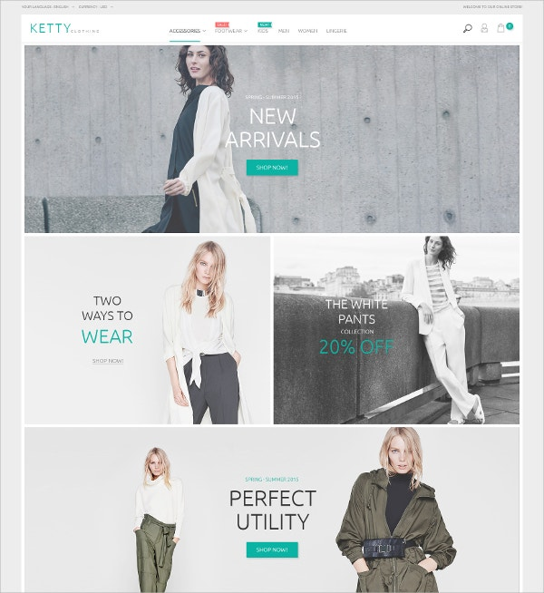 Fashion Clothes Store eCommerce Magento Theme $179