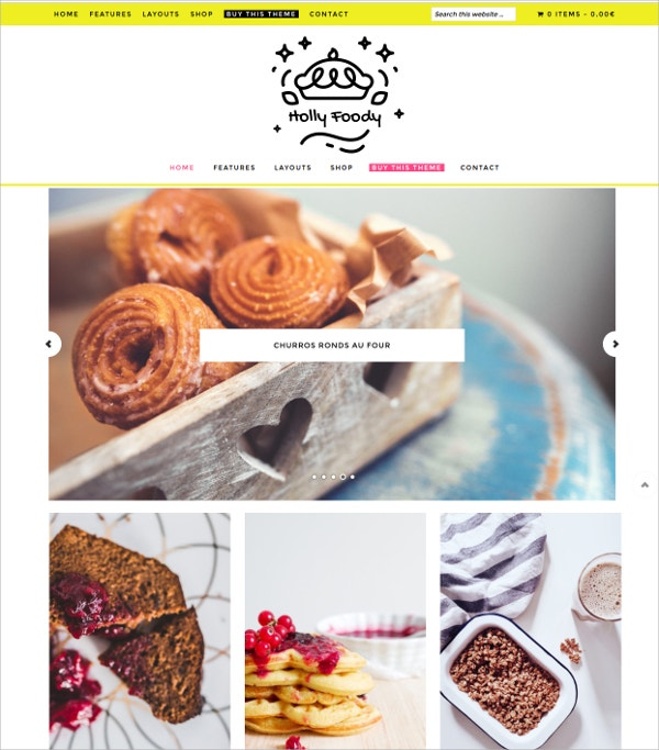 Food eCommerce WordPress Theme $69