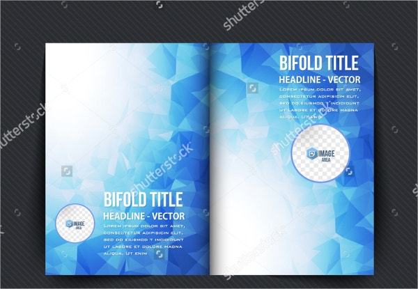 Blue Bi-fold Brochure Template