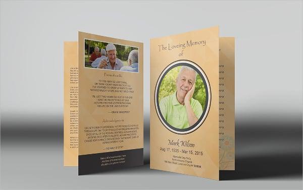 Bi-Fold Funeral Program Brochure