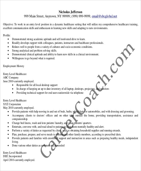 Entry Level Healthcare Administrative Assistant Resume  Administrative Assistant Resume Skills