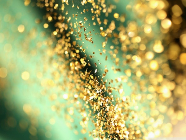 Glitter Gold Bokeh Tumblr Background