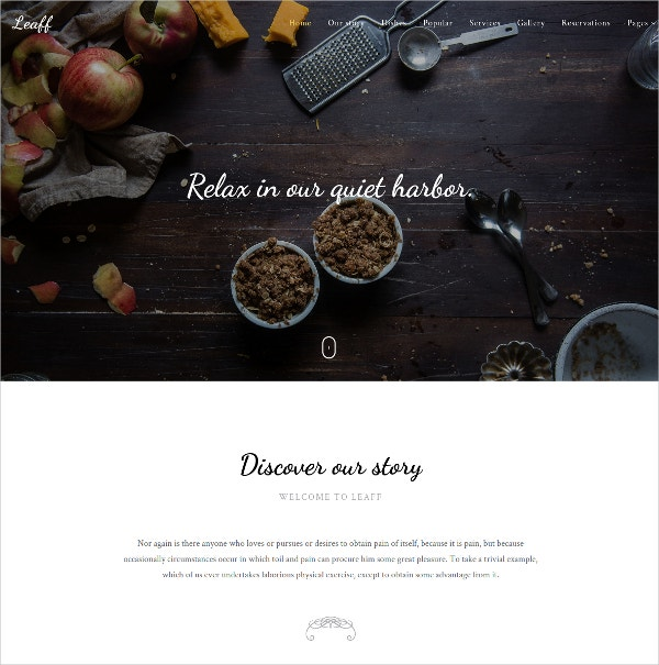 Beautiful And Multipurpose Restaurant Website Template $12