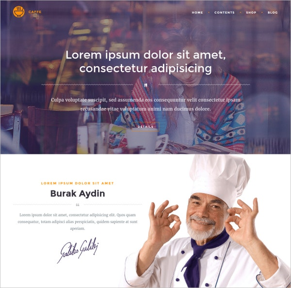 Multipurpose Restaurant WordPress Website Theme $59