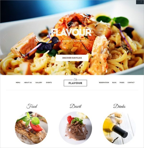 Modern Restaurant WordPress Website Theme $55