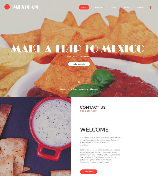 Premium Restaurant Website Template $69