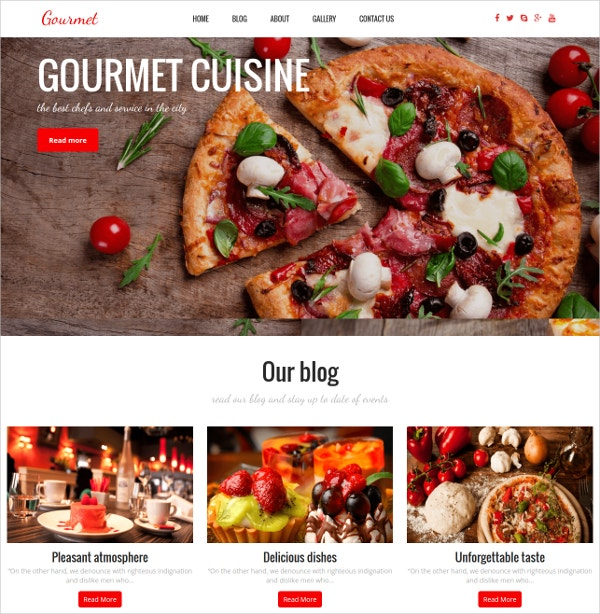 Attractive WordPress Restaurant Website Theme $39
