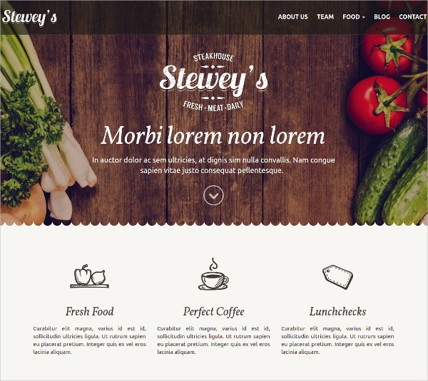 Best For Bar & Restaurant WordPress Website Theme $25