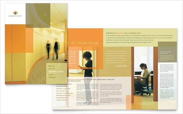 hr consulting brochure template