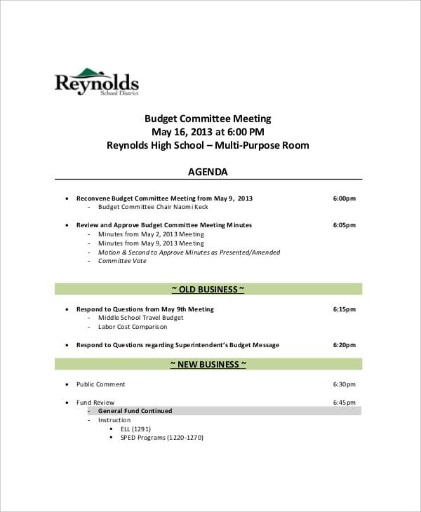school meeting agenda template | datariouruguay