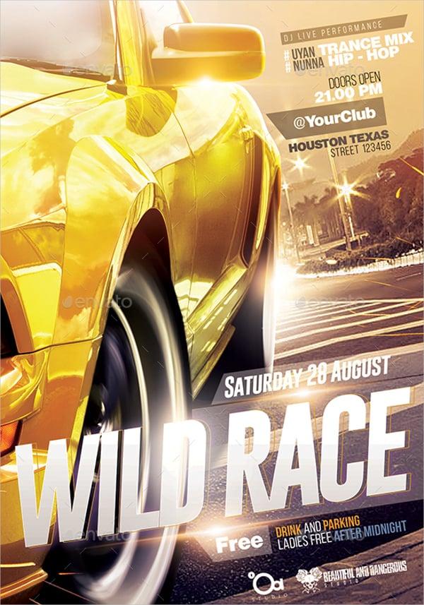 Wild Racing Flyer