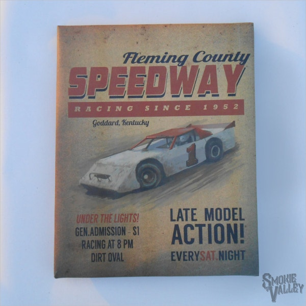 Vintage Racetrack Flyer