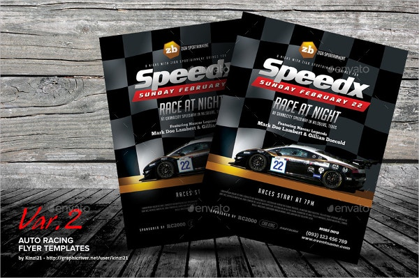 Auto Racing Flyer  Car Flyer Template