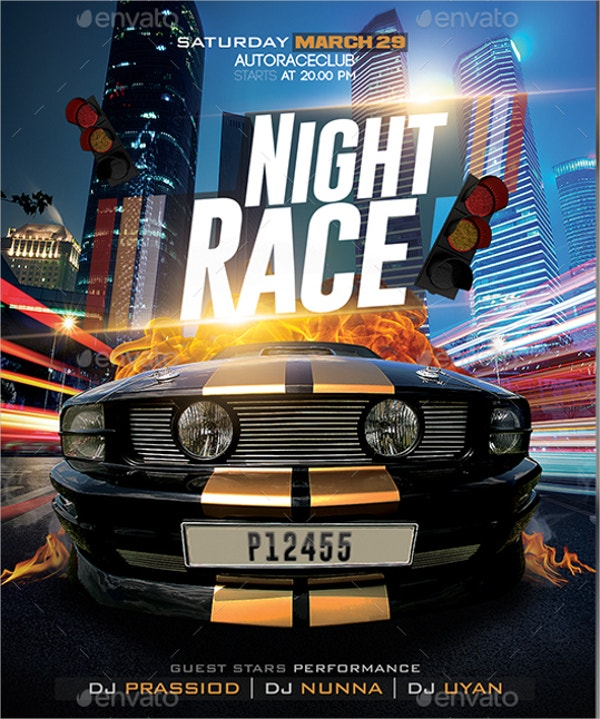 Night Race Flyer