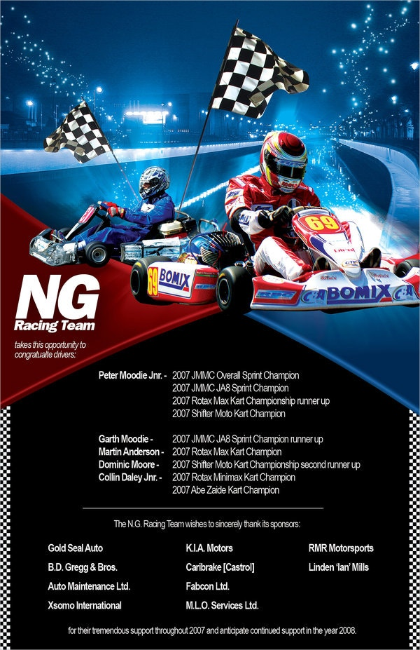NG Team Racing Flyer