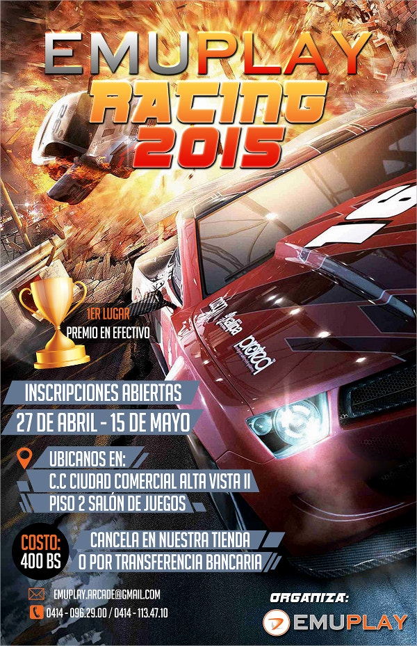 Emuplay Car Racing Flyer