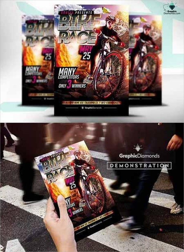 dirt bike race psd flyer