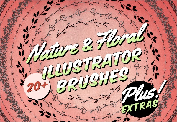 Nature & Flower Illustrator Brushes