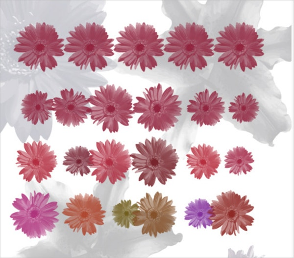 7 flowers brushes