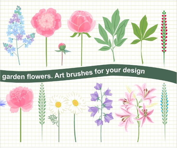 Floral Vector Brushes