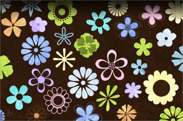flower photoshop gimp brushes1