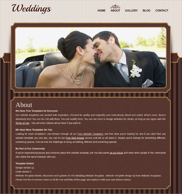Creative Free Wedding Website Template