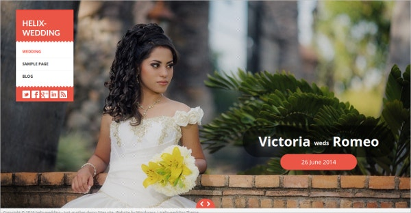 Fullscreen Free Wedding WordPress Theme