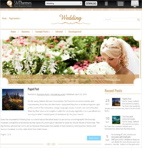 free special wedding wordpress website theme