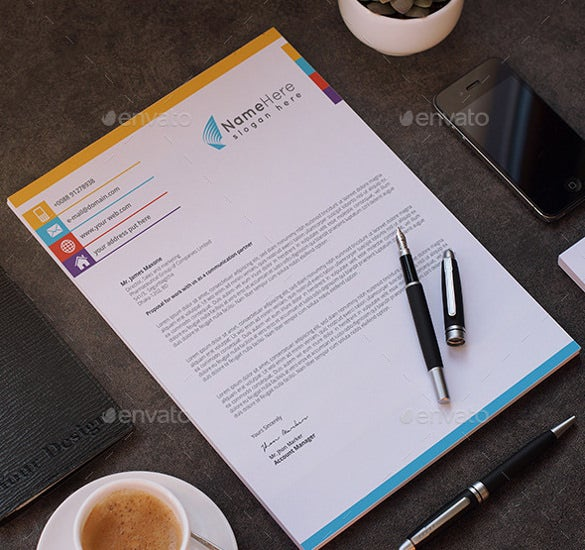 business letterhead download template