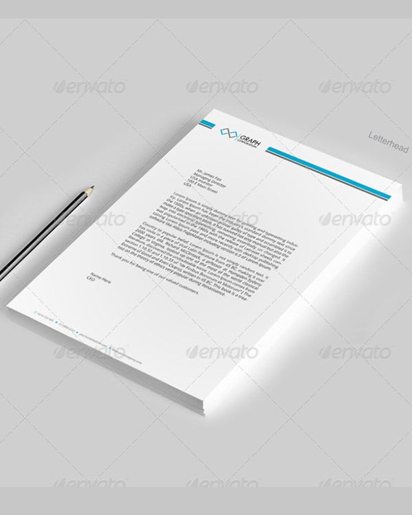corporate letterhead template sample