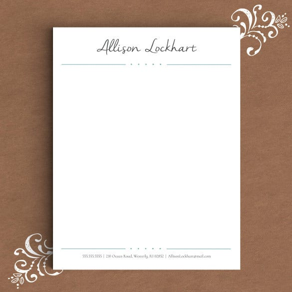 13 Letterhead Templates Free Sample Example Format – Sample Letterhead for Business