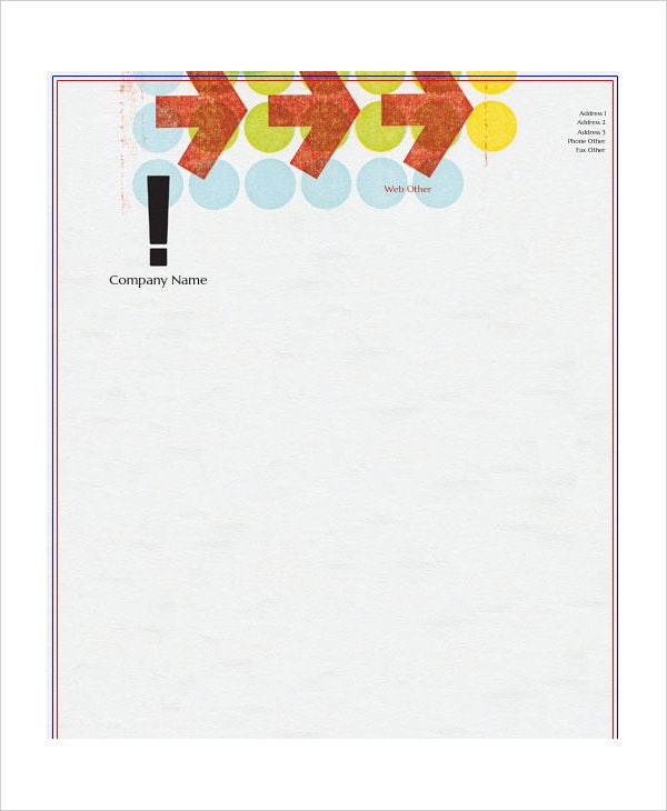 marketing letterhead template sample