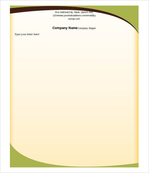 Letterhead Template. Dark Green And White Corporate Official