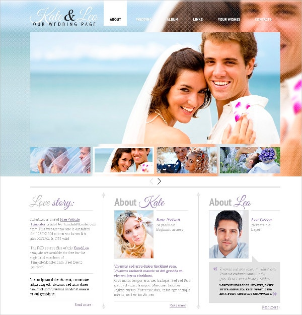 Awesome Free Wedding Website Template