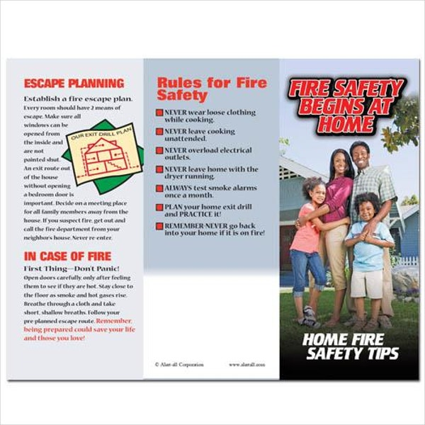 fire safety rules brochure