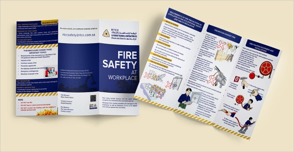 fire safety trifold brochures