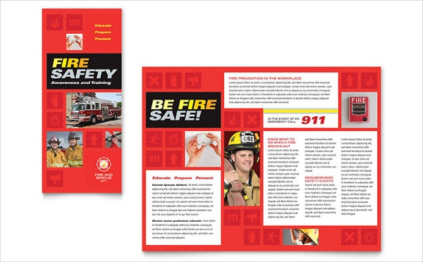 fire safety awareness brochure template